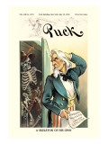 Puck Magazine: A Skeleton of His Own Wall Decal