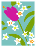 Astro Floral I Wall Decal