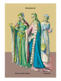 German Noblewoman and Housewife, 12th Century Wall Decal by Richard Brown