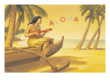 Aloha Serenade Wall Decal by Kerne Erickson