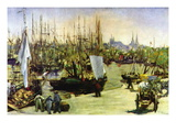 Port of Bordeaux Wall Decal by Édouard Manet