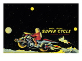 Space Patrol Super Cycle Wall Decal