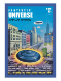 Fantastic Universe: Ufos in New York Wall Decal