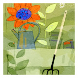 Gardening in Spring Wall Decal