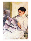 When Reading of Figaro Wall Decal by Mary Cassatt