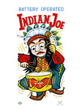 Battery Operate Indian Joe Wall Decal