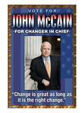 McCain, Change is Great Vinilos decorativos