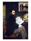 Portrait of Emile Zola Wall Decal by Édouard Manet