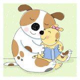 Story for Baby Dog Wall Decal