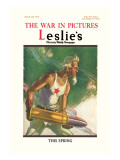 Leslie's: The War in Pictures Autocollant mural par Clyde Forsythe