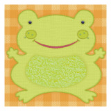 Needlepoint Frog Wall Decal