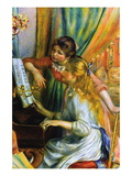 Girls At The Piano Wall Decal by Pierre-Auguste Renoir