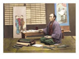 Portrait of a Japanese Artist Wall Decal by Baron Von Raimund Stillfried
