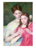 Woman and Girl Wall Decal by Mary Cassatt