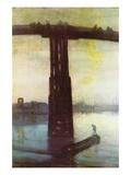 Old Battersea Bridge Wall Decal by James Abbott McNeill Whistler