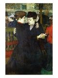 Dancing a Valse Wall Decal by Henri de Toulouse-Lautrec