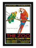 London's Tramways, The Zoo Wall Decal by Lawson Wood