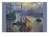 Sunrise At Sea Wallsticker af Claude Monet