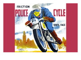 Friction Police Cycle Wall Decal