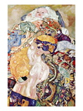 Baby Wall Decal by Gustav Klimt