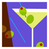 Dirty Martini Wallstickers