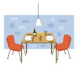Retro Dining Room Wallstickers