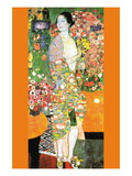 The Dancer Muursticker van Gustav Klimt