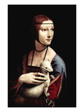 Portrait of a Lady with An Ermine Wall Decal by  Leonardo da Vinci