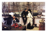 The Captain and His Girl Wall Decal by James Tissot