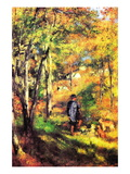 Jules Le Coeur and His Dogs Wall Decal by Pierre-Auguste Renoir