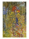 Farmers Garden with Crucifix Wall Decal by Gustav Klimt