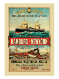 Direct Post Office Shipping Hamburg to New York Wall Decal