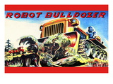 Robot Bulldozer Wall Decal