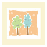 Cheerful Trees Wall Decal