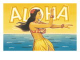Aloha Autocollant mural par Kerne Erickson