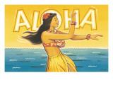 Aloha, Hawaii Adesivo de parede por Kerne Erickson