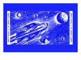 Rocket Space Ship 305 Wall Decal
