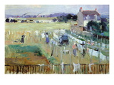 Laundry Day Wall Decal by Berthe Morisot