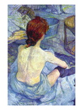 Rousse The Toilet Wall Decal by Henri de Toulouse-Lautrec