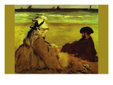On The Beach Wall Decal by douard Manet