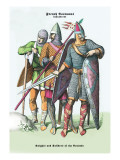 French Costumes: Knights and Soldiers of the Crusades Wall Decal