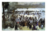 Skating Runners In The Bois De Bologne Wall Decal by Pierre-Auguste Renoir