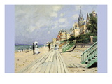 Beach At Trouville Wall Decal by Claude Monet