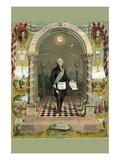 Symbols Masonic - Washington As a Master Mason Wall Decal