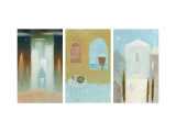 Temples Triptych Wall Decal