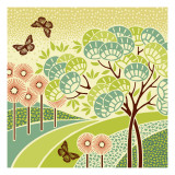 Hazy Day Butterflies Wall Decal