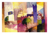 Kairouan Wallstickers af Auguste Macke