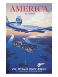 America by Clipper Wall Decal by Kerne Erickson