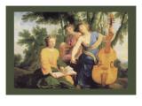 Sylvan Cellist Wall Decal
