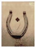 Lucky Horse Shoe on Dusty Rose Metallic IV Autocollant mural